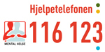 Logo hjelpetelefonen til Mental helse