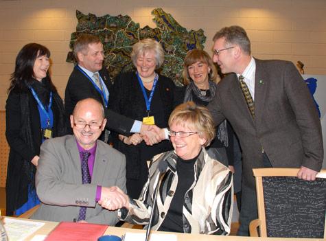 Signering av avtalen