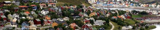 Utsnitt av Tunnellbakken. Foto: Hammerfest kommune/Bjørnar Lunga.