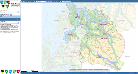 Kartportal for Midt-Troms