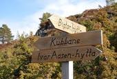 Det er god skilting til Høgda også oppå fjellet!