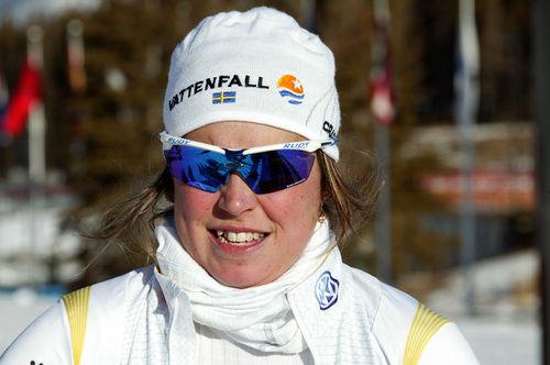 ANNA HAAG och sambon Emil Jönsson väcktes klockan 06,00 på onsdagsmorgonen för ett oanmält dopingtest i Davos. Foto: KJELL-ERIK KRISTIANSEN