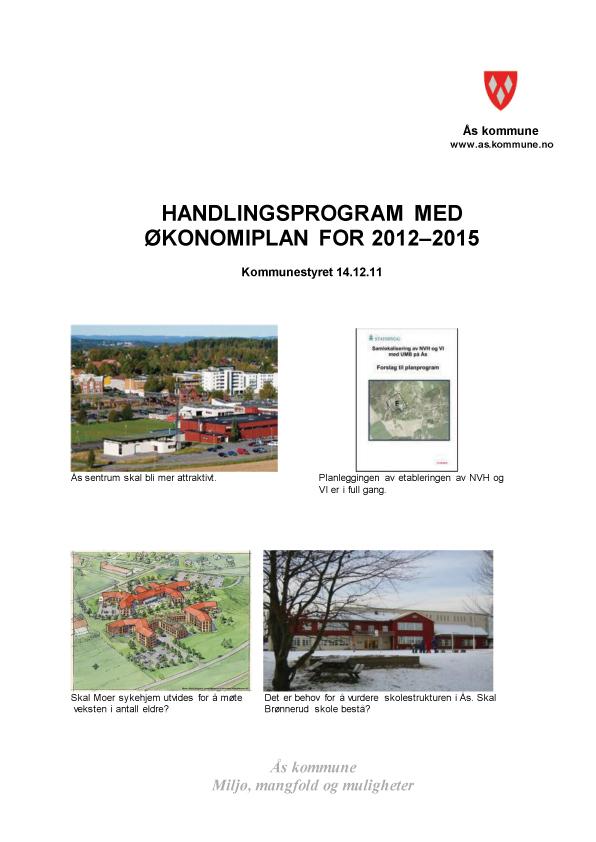Handlingsprogram 2012 - 2015 illustrasjonsbilde fra forsiden av dokumentet