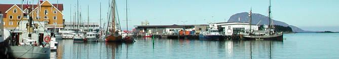 Båtar i havnebassenget