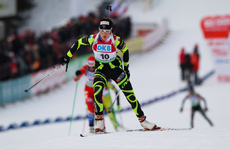 04.02.2012, Holmenkollen, Norway (NOR): Marie Laure Brunet (FRA), Rossignol, Rottefella, Swix - IBU world cup biathlon, pursuit women, Holmenkollen (NOR). www.nordicfocus.com. © Laiho/NordicFocus. Every downloaded picture is fee-liable.