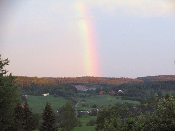 Regnbue over Hobøl