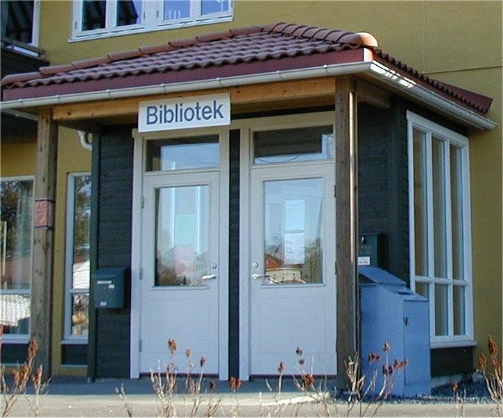 Hobøl bibliotek, inngang