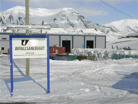 Avfallsanlegget i Longyearbyen. Foto: Anne Lise Olsen