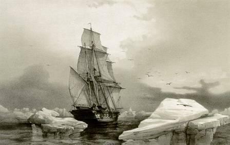 Corvetten La Recherche i isen