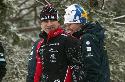 SVEN-ERIK PAJALA (t v) är primus motor för skidfesten i Piteå 4 augusti. Foto: KJELL-ERIK KRISTIANSEN