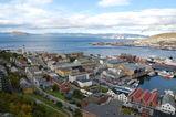 Oversiktsbilde - Hammerfest sett fra byfjellet Salen