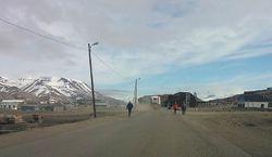 Humper på veiene i Longyearbyen