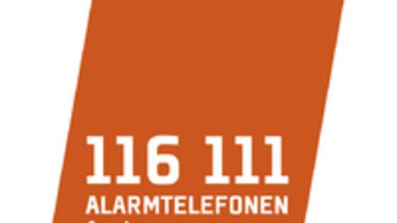 Logo alarmtelefon for barn og unge