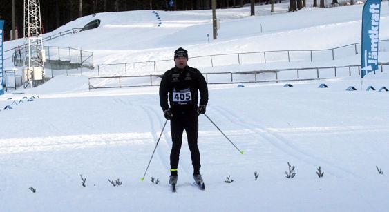 MIKAEL TIMAN, Östersund i mål först på korta banan. Foto: THORD ERIC NILSSON