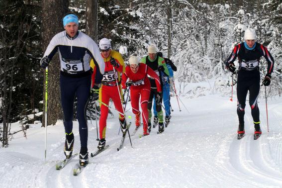 LINUS JANSSON, Häverödal (26:a)  före Patrik Bergman, Sveg (23:a), Johan Dalborg, Frösön (21:a). Foto: THORD ERIC NILSSON