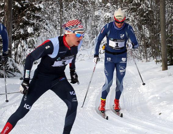 HAMPUS LINDBLOM, Åsarna före Robin Norum, IFK Umeå. Hampus slutad 7:a och Robin 8:a i mål. Foto: THORD ERIC NILSSON