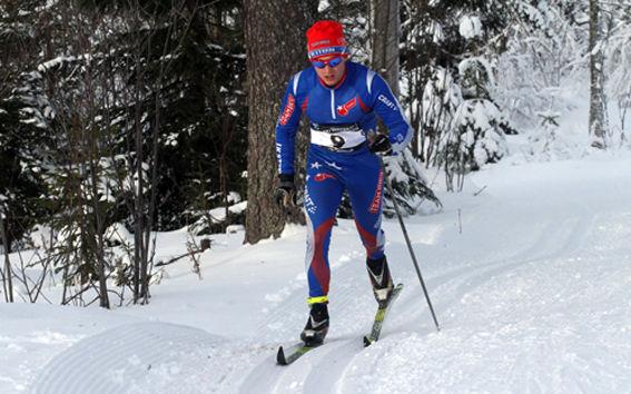 CARL OLANDER från Vasaloppsklubben Stern i Göteborg - kom sedan i mål som 20:e. Foto: THORD ERIC NILSSON