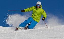 Alpinist i vintersol