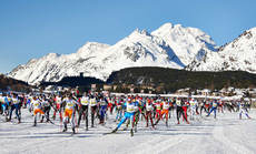 10.03.2013, St. Moritz, Switzerland (SUI): start- FIS Marathon Cup Engadin Skimarathon, St. Moritz (SUI). www.nordicfocus.com.  Felgenhauer/NordicFocus. Every downloaded picture is fee-liable.