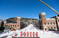 13.03.2013, Drammen, Norway (NOR): a general view at the track- FIS world cup cross-country, individual sprint, Drammen (NOR). www.nordicfocus.com.  Laiho/NordicFocus. Every downloaded picture is fee-liable.