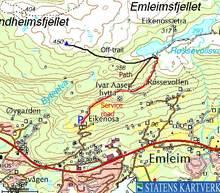 Kart Høgda