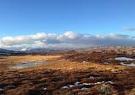 Utsikt fra Svarthammeren mot Trollhette lørdag 16.11.13 på formiddagen.
