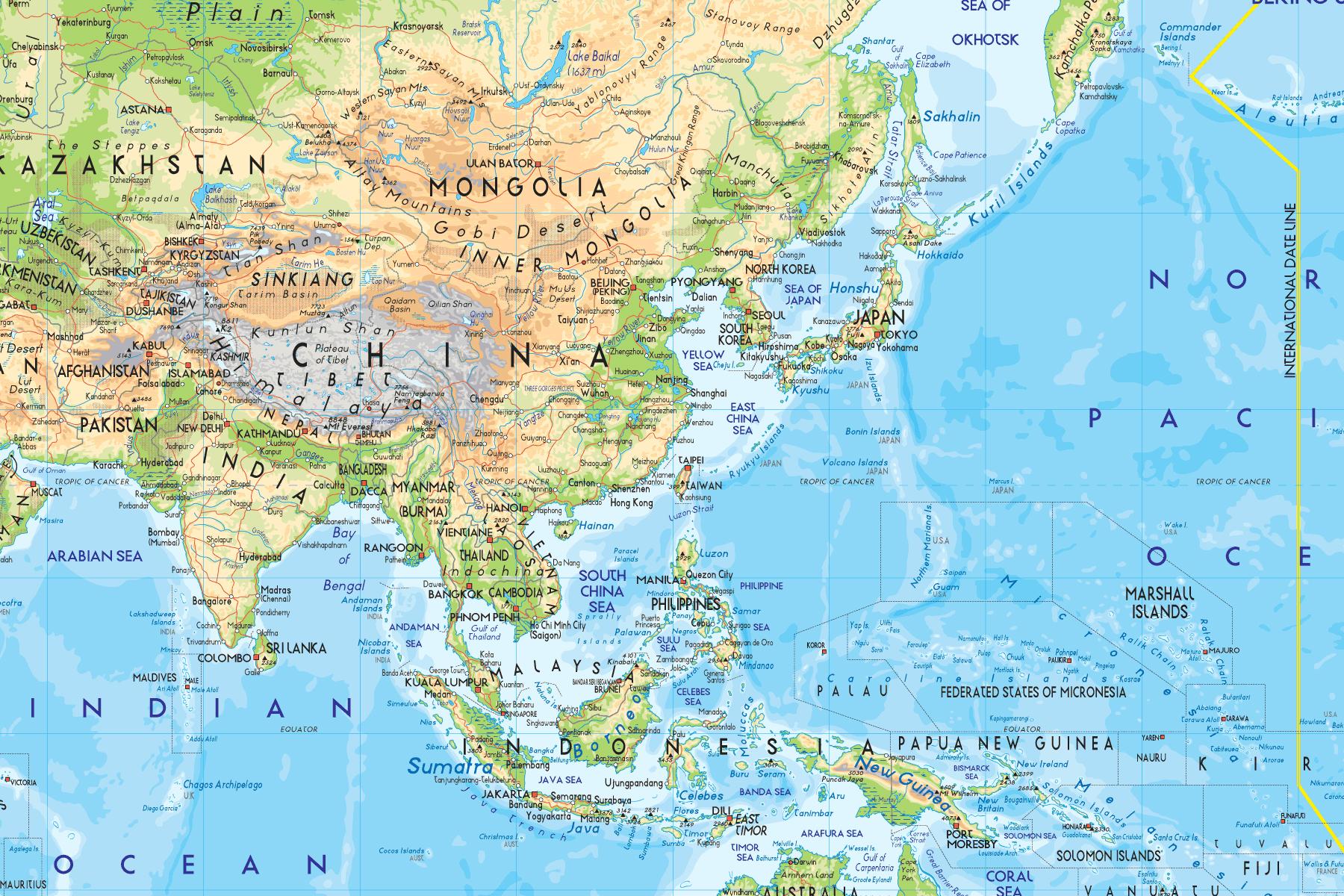 land i asia kart ASIA   turforslag   Reisejournalist land i asia kart
