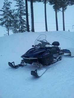 Snøscooter ute på lovlig oppdrag