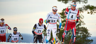 08.03.2014, Oslo, Norway (NOR): Noah Hoffman (USA), Jens Eriksson (SWE), Sjur Roethe (NOR), (l-r)- FIS world cup cross-country, mass men, Oslo (NOR). www.nordicfocus.com. © Felgenhauer/NordicFocus. Every downloaded picture is fee-liable.