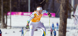 15.02.2014, Sochi, Russia (RUS): Anna Haag (SWE)- XXII. Olympic Winter Games Sochi 2014, cross-country, 4x5km women, Sochi (RUS). www.nordicfocus.com. © NordicFocus. Every downloaded picture is fee-liable.