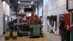Demontert turbin i Energiverket