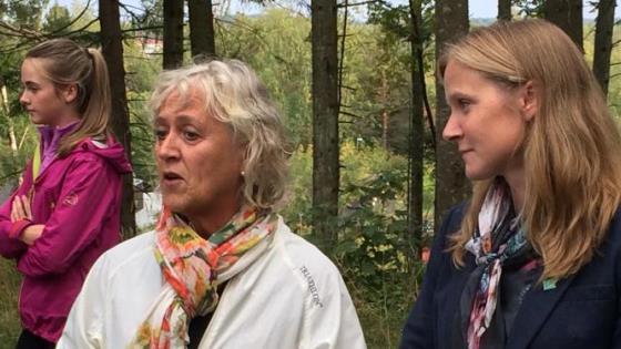 Rådmann og rektor på utemiddag freskuka 2014