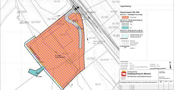 Detaljregulering for Mørenot - Plankart