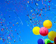 Ballonger og confetti