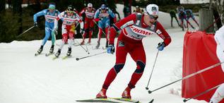 EIRIK BRANDSDAL har flera världscupsegrar i sprint, senast i Drammen. Men att han skulle bli norsk mästare på femmilen var en överraskning. Foto: KJELL-ERIK KRISTIANSEN