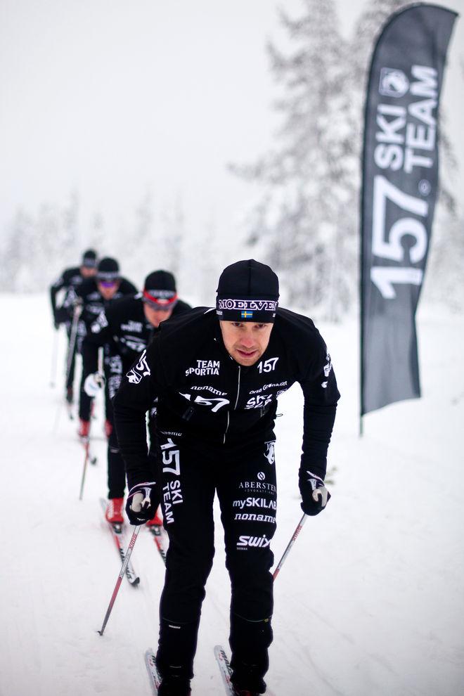 LAGER 157 SKI TEAM - här med Fredrik Byström - har gjort ett exklusivt samarbetsavtal med SKIGO. ARKIVFOTO