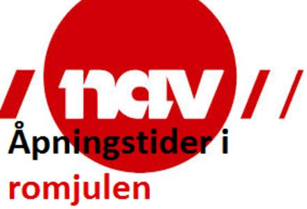 Logo - NAV - Åpningstider i romjulen