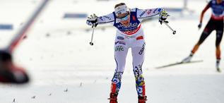 STINA NILSSON tog fram krafter som man inte trodde fanns och spurtade in till silver för Sverige igen. Foto: NORDIC FOCUS