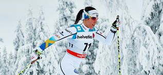 30.11.2014, Ruka, Finland (FIN): Charlotte Kalla (SWE)- FIS world cup cross-country, 10km women, Ruka (FIN). www.nordicfocus.com. © Felgenhauer/NordicFocus. Every downloaded picture is fee-liable.
