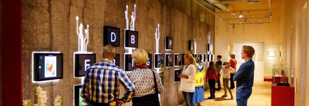 Alfabetet i utstillingen Livets Runde