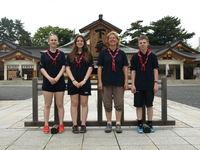 Speidertur til Japan_Ingvild, Solveig, Trine og Thomas i Hiroshima