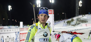 29.11.2015, Oestersund, Sweden (SWE):Fredrik Lindstroem (SWE) - IBU world cup biathlon, relay mixed, Oestersund (SWE). www.nordicfocus.com. © Manzoni/NordicFocus. Every downloaded picture is fee-liable.