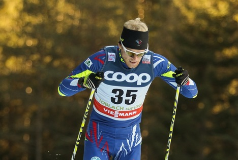 20.12.2015, Toblach, Italy (ITA):Alexis Jeannerod (FRA) - FIS world cup cross-country, 15km men, Toblach (ITA). www.nordicfocus.com. © Modica/NordicFocus. Every downloaded picture is fee-liable.