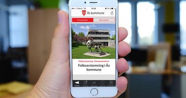 Ås kommunes mobil App illustrasjonsbilde