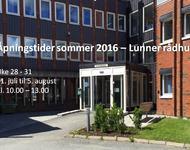 Åpningstider sommer 2016 med tekst
