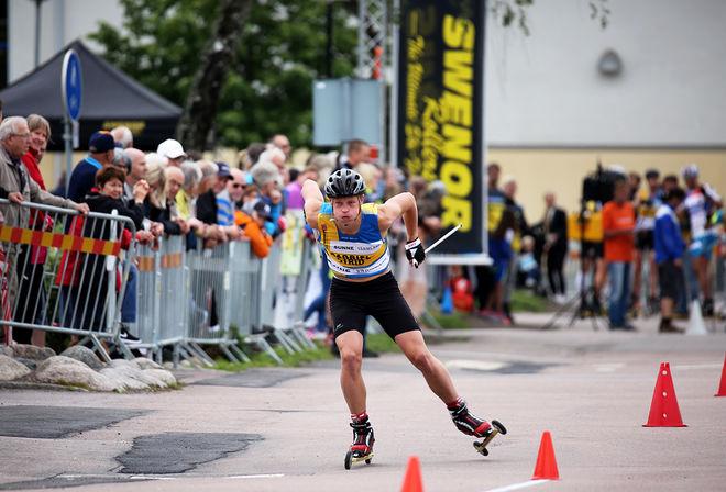 """GABRIEL STRID vann juniorklassen i världscupfinalen i Italien. Här från """"Inge Bråten Memorial"""" på hemmaplan i Sunne. Foto/rights: MARCELA HAVLOVA/sweski.com"""