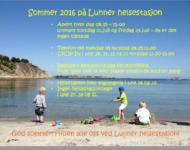 Helsestasjonen - Redigerte åpningstider for sommeren 2016