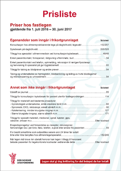 Takstplakat fastlege 2016