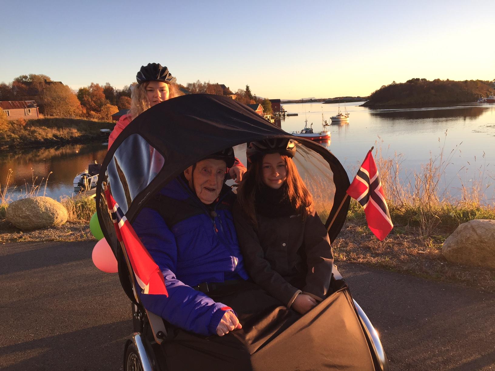 Humørspredersykkelen på NRK_Helge