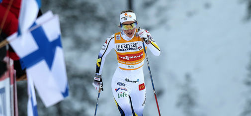 27.11.2016, Ruka, Finland (FIN):Stina Nilsson (SWE) - FIS world cup cross-country, 10km women, Ruka (FIN). www.nordicfocus.com. © Modica/NordicFocus. Every downloaded picture is fee-liable.